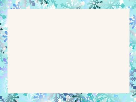 Snow crystal frame ①
