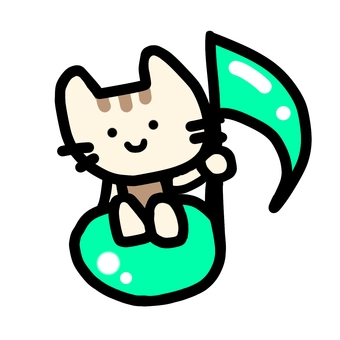 Eighth note cat