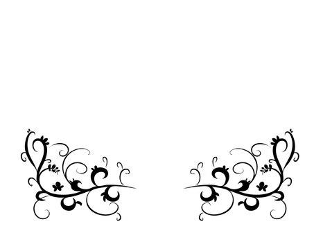 Calligraphic decoration frame