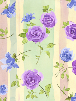 Stripe and rose flower