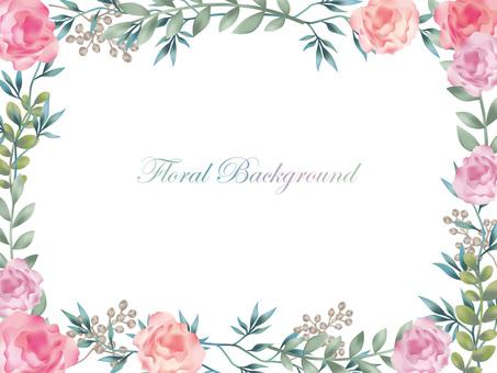Water color flower background background illustration