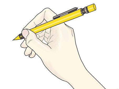 펜을 든 손 01