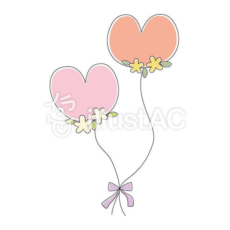 かわいいハートの風船/結婚式イラスト , No 1196546/無料