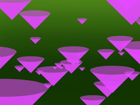 Conical pattern purple