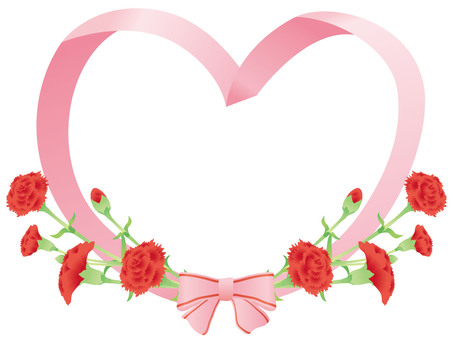 Carnation Ribbon Heart 01