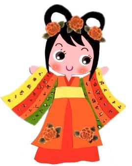 Korean shrine dance girl