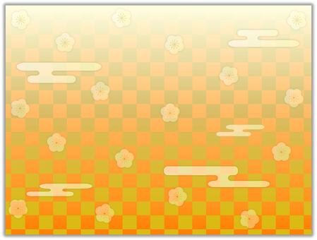Gold plum checker plum and cloud cliff wallpaper