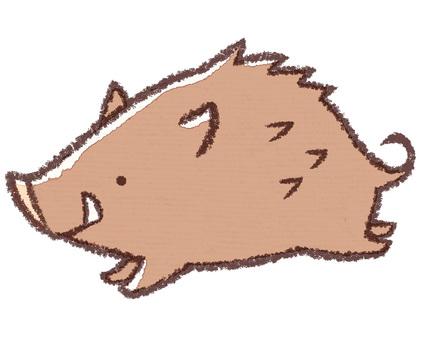 Running wild boar (no uriho version)