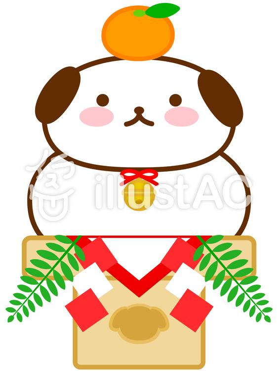 鏡餅a犬の鏡餅イラスト No 784343無料イラストならイラストac