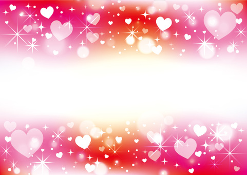 Heart pattern frame _ background material 03