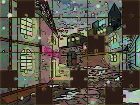 Jigsaw Puzzle Snowy Town