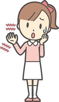 Girl pink long sleeve -057-whole body