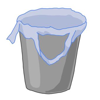Trash bin (gray)