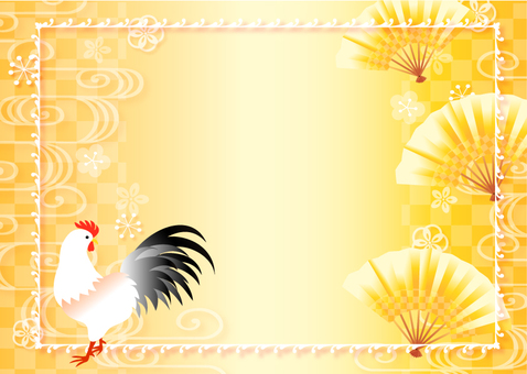 Rooster and New Year's Background