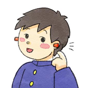 귀마개 청각 과민 소년