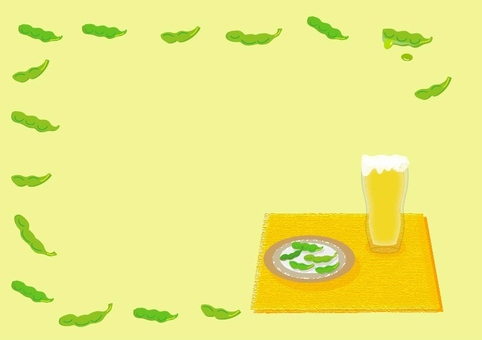 Beer and Edamame - Frame Yellow series
