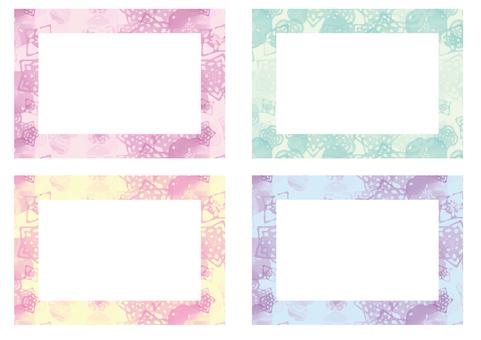 Watercolor Japanese Pattern Frame