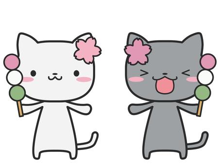 고양이 꽃놀이