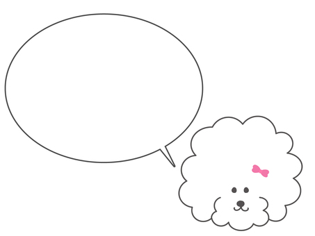 Toy poodle speech bubble