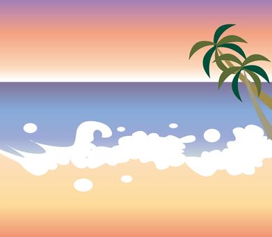 Summer sea (Sunset)