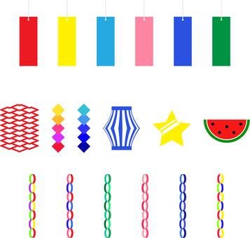 Tanabata decoration set