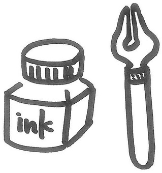 Ink and fountain pen