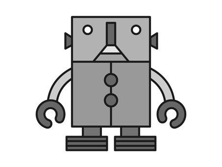 Monochrome robot