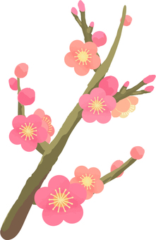 Dense plum branch
