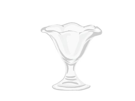 Parfait glass in fluttering form