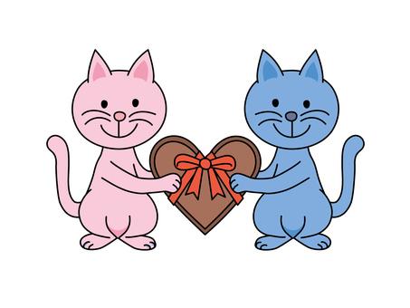 貓和心巧克力
