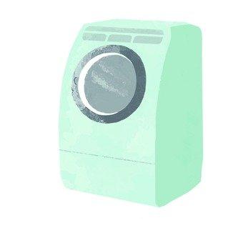 손으로 그린 바람 드럼 세탁기