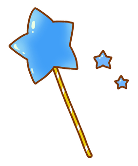 Star cane (blue)