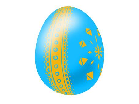 Easter egg aqua blue