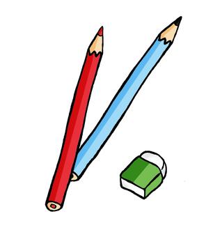 鉛筆和橡皮擦