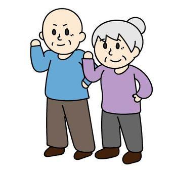 Senior men and women