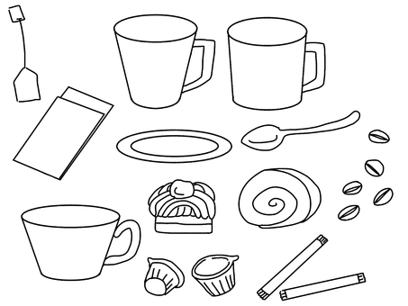 Cafe material (line drawing)