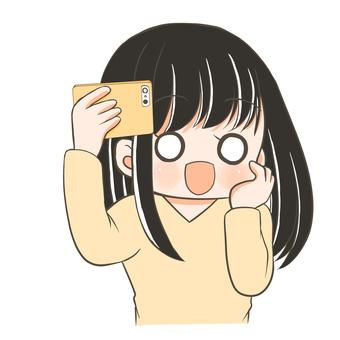 自撮りをする女の子2