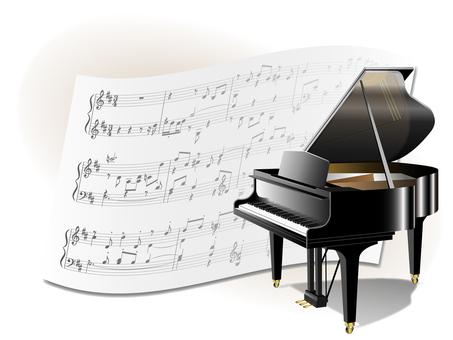 Grand piano and score