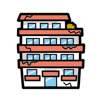 Conspicuous boro apartment ruins