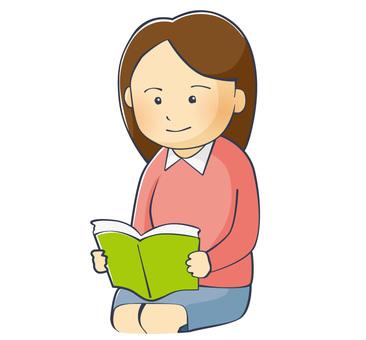 A woman reading