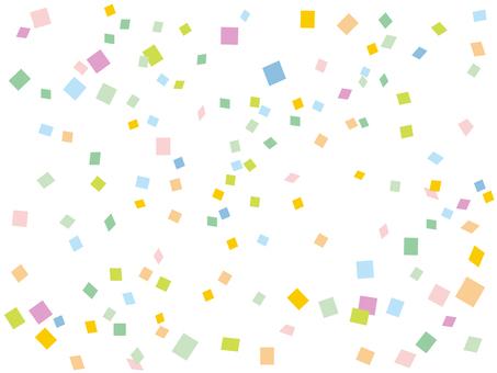 Confetti pastel color