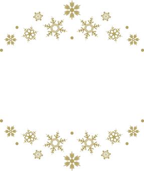 Snow crystal frame 2