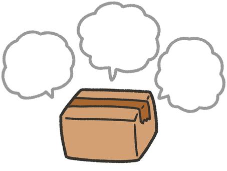 Cardboard and speech bubble