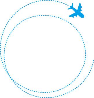 Bir uçakta yuvarlak çerçeve