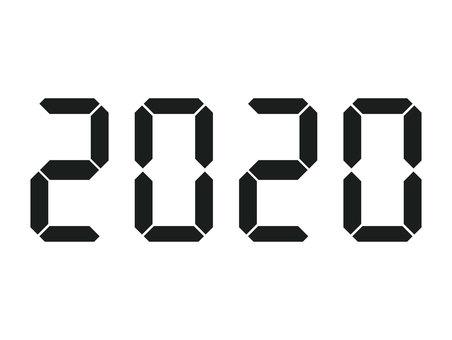 デジタル数字 2020