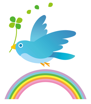 Rainbow and hope bird