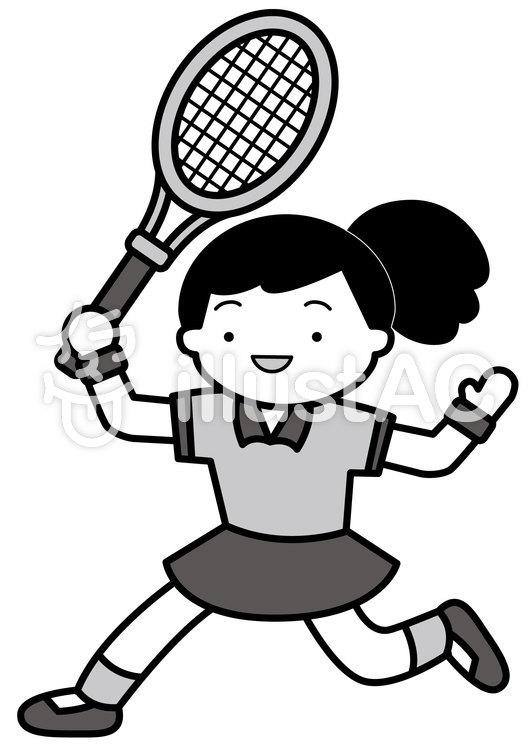テニス3-2cのイラスト