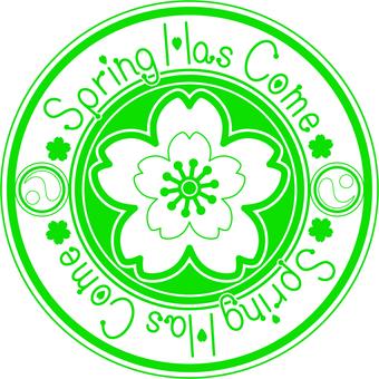 Sakura Stamp · English green ver.