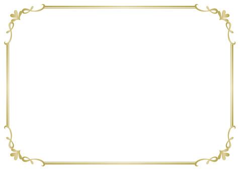 Frame elegant gold