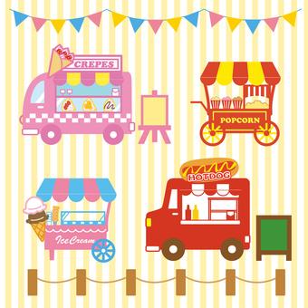 Set of cute stalls